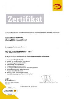 Zertifikat: Der bauleitende Monteur 1-1