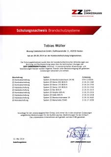 Zertifikat: Brandschutzsysteme