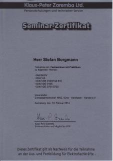 Zertifikat: Seminar mit Praktikum