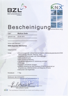 Zertifikat: KNX Experte