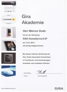 Zertifikat: KNX HomeServer3-IP
