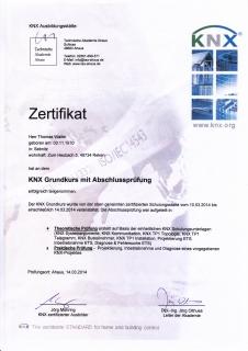 Zertifikat: KNX Zertifikat