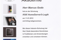 Zertifikat: KNX HomeServer3-Logik