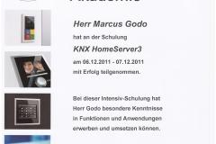 Zertifikat: KNX HomeServer3
