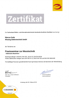 Zertifikat: Messtechnik 1